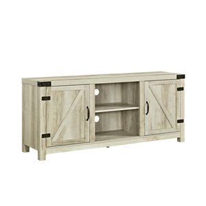 Walker Edison Farmhouse TV Cabinet - 58-in x 24-in - White Oak