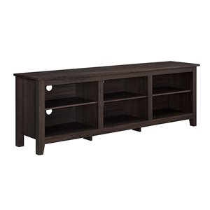 Walker Edison Modern TV Cabinet - 70-in x 24-in - Espresso