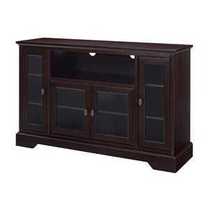 Walker Edison Modern TV Cabinet - 52-in x 33-in - Espresso