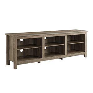 Walker Edison Modern TV Cabinet with Storage - 70-in x 24-in - Grey