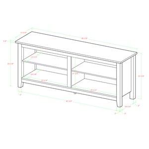 Walker Edison Casual TV Cabinet with Open Storage - 58-in x 24-in - Espresso