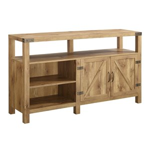 Walker Edison Farmhouse TV Cabinet - 58-in x 33-in - Barnwood