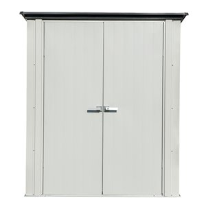Spacemaker Patio Steel Storage Shed, 5x3, Flute Grey and Anthracite