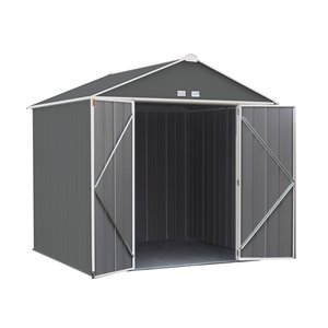 EZEE Shed Steel Storage 8x7 ft Galvanized Char-Cr