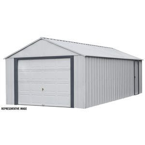 Arrow Murryhill Prefab Garage - 14 ft x 21 ft - Steel