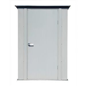 Spacemaker Patio Steel Storage Shed, 4x3, Flute Grey and Anthracite