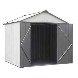 EZEE Shed Steel Storage 8x7 ft Galvanized Cr-Char