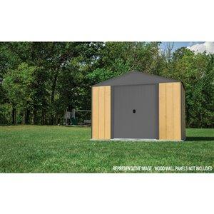 Ironwood Steel Hybrid Shed Kit 10 x 8 ft Antracite