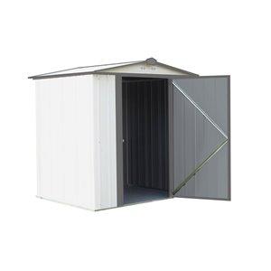 EZEE Shed Steel Storage 6x5 ft Galvanized Cr-Char