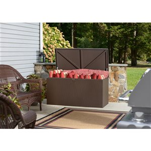 Deck Box Galvanized Steel Storage - Espresso