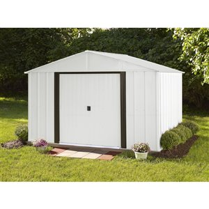 Arlington 10x8 ft Steel Storage Shed Eggsh./Coffee