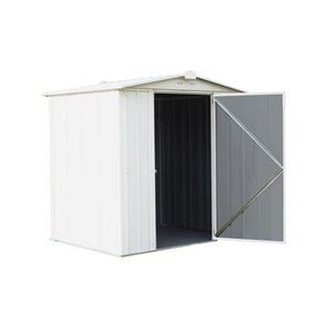 EZEE Shed Steel Storage 6x5 ft Galvanized Cream