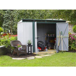 Euro-Lite 10x4ft Steel Storage Shed Pent Gr/Eggsh