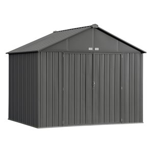 EZEE Shed Steel Storage 10x8 ft Galvanized Char