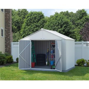 EZEE Shed Steel Storage 10x8 ft Galvanized Cream