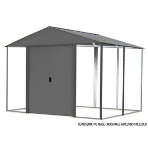 Ironwood Steel Hybrid Shed Kit 10x12 ft Antracite