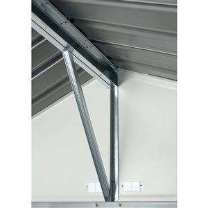 EZEE Shed Steel Storage 10x8 ft Galvanized Char-Cr
