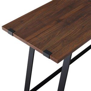 42-in Modern Industrial Computer Desk - Dark Walnut