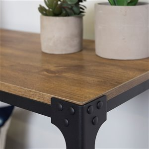 44-in Rustic Entryway Table - Barnwood