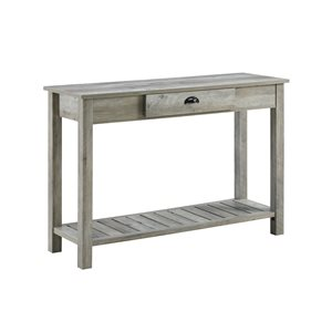 48-in Country Style Entry Console Table - Gray Wash