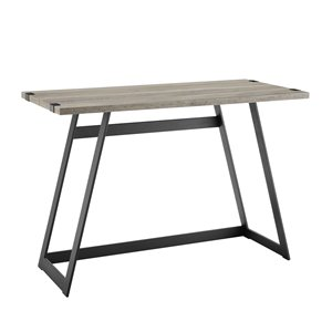 42-in Modern Industrial Computer Desk - Grey Wash