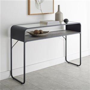 46-in Industrial Entryway Table - Grey Wash