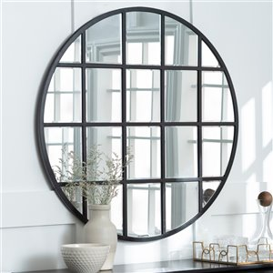 40-in Round Beveled Window Mirror