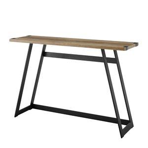 46-in Modern Industrial Entryway Table - Rustic Oak
