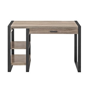 48-in Wood Computer Desk - Driftwood
