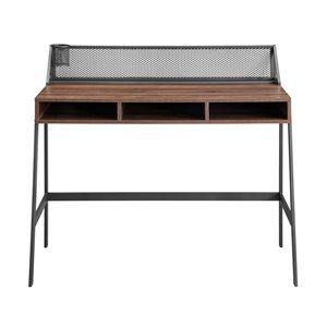 42-in Mesh Back Writing Desk - Dark Walnut