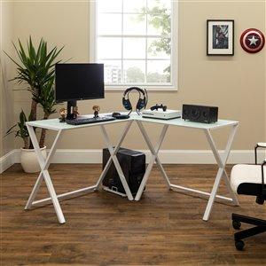 Home Office 51-in L-Shaped Corner Computer Desk - White