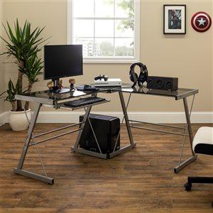 Home Office 51-in L-Shaped Corner Computer Desk - Smoke