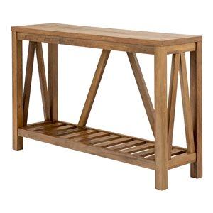 52-in A-Frame Rustic Entry Console Table - Rustic Oak