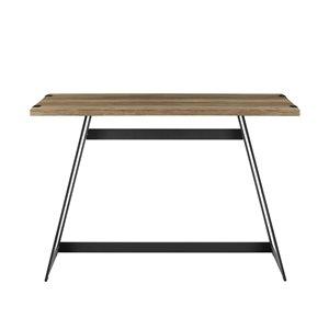 42-in Modern Industrial Computer Desk - Rustic Oak