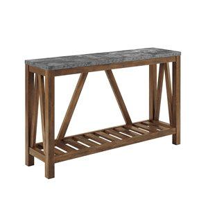 52-in Modern Farmhouse Entryway Table - Dark Concrete