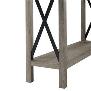 46-in Rustic Farmhouse Entryway Table - Grey Wash