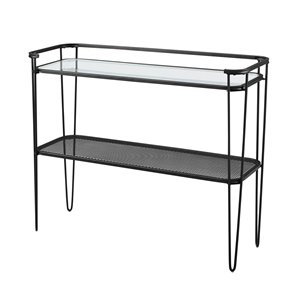 42-in Industrial Entryway Table -Clear Glass