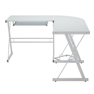 Home Office 51-in L-Shaped Corner Computer Desk - White