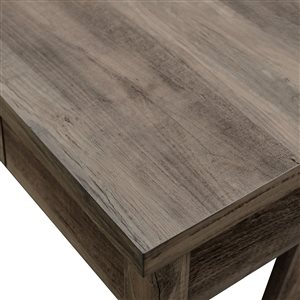 46-in Rustic Farmhouse Wood Computer Desk - Grey Wash