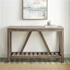 52-in Modern Farmhouse Entryway Table - Grey Wash