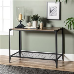 44-in Rustic Entryway Table - Driftwood