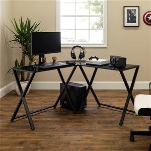 Home Office 51-in L-Shaped Corner Computer Desk - Black