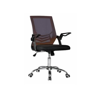 TygerClaw Mid-Back Mesh Office Chair - Black