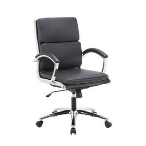 TygerClaw Executive Mid-Back Chair - Black