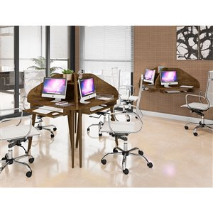 Manhattan Comfort Bradley Corner Desk - 43.98-in - Rustic Brown