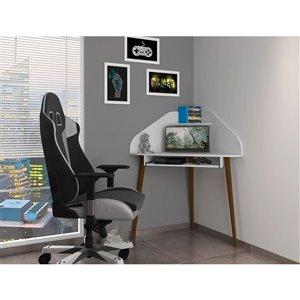 Manhattan Comfort Bradley Cubicle Section Desk - 62.62-in - White - 2-Piece