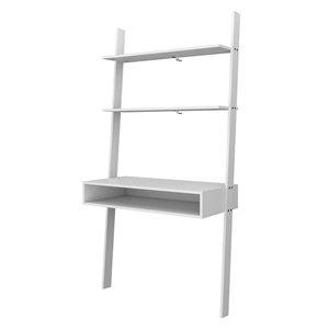 Manhattan Comfort Cooper Ladder Desk - 36.61-in - White