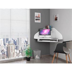Manhattan Comfort Bradley Corner Desk - 43.98-in - White