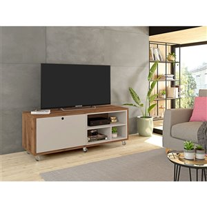 Manhattan Comfort Windsor TV Stand - 53.62-in x 21.65-in - Off-White/Natural