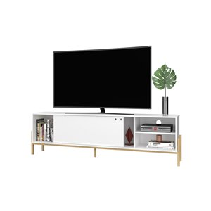 Manhattan Comfort Bowery TV Stand - 72.83-in x 21.02-in - White/Oak
